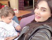 صورة.. سيرين عبد النور تحتفل بالعام الأول لطفلها كريستيانو