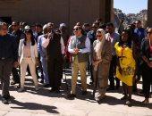 جولة الرئيس السيسى وشباب الملتقى العربى الإفريقى بمعبد فيله
