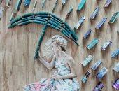 إليزابيث ساجان..فتاة تصنع من الكتب لوحات فنية وبتتصور معاها + 60 صور جديدة