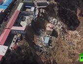 شاهد.. انهيار منازل جراء انزلاق أرضى فى مقاطعة شانشى شمال الصين
