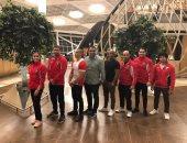 بعثة الجمباز الفنى تصل قطر للمشاركة فى بطولة كأس العالم