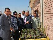 صور.. افتتاح نموذج زراعة الأسطح بجامعة أسيوط