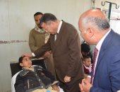 محافظ بنى سويف يطمئن على استقرار الحالة الصحية لـ9 تلاميذ بمستشفى الواسطى