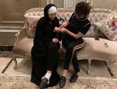 """""""هما قصدهم ايه؟"""".. بسمة وهبى لـ""""دينا"""" من السعودية: """"مبروك يا عروسة النيل"""""""