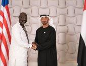محمد بن زايد يستقبل الرئيس الليبيرى جورج وايا