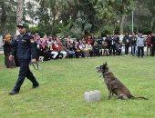 صور.. طلاب جامعة جنوب الوادى يزوروا إدارة الكلاب البوليسية