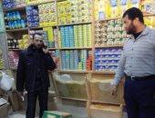 ضبط أغذية ومشروبات فاسدة فى محلات تجارية بمركز الداخلة بالوادى الجديد