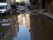 صور.. غرق شوارع المريوطية بمياه الصرف.. والأهالى يناشدون المحافظة بالتدخل