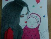 """قارئة تشارك """"صحافة المواطن"""" بمجموعة من لوحاتها بمناسبة عيد الأم"""