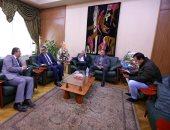 """صور.. ضياء رشوان يستقبل وفد من """"الإعلاميين"""" فى أولى مهامه بعد فوزه بمنصب نقيب الصحفيين"""