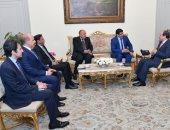 """السيسى خلال استقباله """"سيدى محمد"""": نعتز  بالروابط الأخوية الوثيقة مع موريتانيا"""