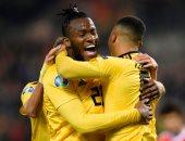 """شاهد.. بلجيكا تتفوق على روسيا 2/1 فى شوط مثير بتصفيات """"يورو 2020"""""""