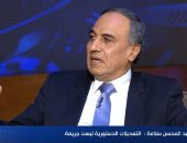 عبد المحسن سلامة: التعديلات الدستورية ليست جريمة والشعب لا يمانع مد فترة الرئاسة