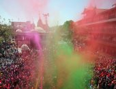 مهرجان الألوان المبهجة فى الهند احتفالا بقدوم فصل الربيع