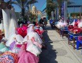 صور.. معرض للمشغولات اليدوية وتدريب السيدات مجانًا بكفر الشيخ