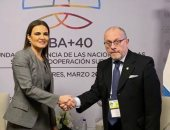"""وزير خارجية الأرجنتين لـ""""سحر نصر"""": نتطلع لنقلة فى العلاقات الثنائية مع مصر"""