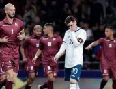 الأرجنتين تسقط بثلاثية أمام فنزويلا وديا فى ليلة عودة ميسي.. فيديو