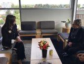 وزيرة الهجرة تلتقى وزير الدفاع وعمدة مدينة كرايستشيرش النيوزيلنديين