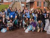 """""""بريطانيا عظيمة"""".. نصف مليون تلميذ بريطانى يعلنون الحرب على القمامة ..صور"""