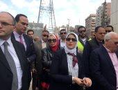 فيديو وصور.. وزيرة الصحة تتفقد مستشفى بورسعيد العام استعدادًا لتطبيق التأمين الصحى