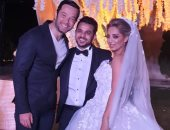 شاهد.. أول صور من حفل زفاف محمد رشاد ومى حلمى