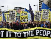 7 فيديوهات من التظاهرات المليونية فى لندن للمطالبة باستفتاء على بريكست