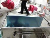 النيابة تعاين معهد القلب وغرفة القسطرة بعد تحطيمها لحصر التلفيات