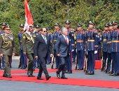 صور.. بسام راضى: مراسم استقبال رسمية لملك الأردن بقصر الاتحادية
