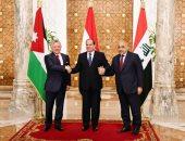 الرئاسة: مباحثات السيسى وعاهل الأردن ورئيس وزراء العراق تناولت تعزيز التعاون