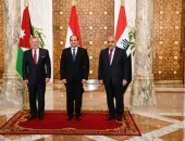 صور.. نص البيان الختامى المشترك الصادر عن القمة الثلاثية بين مصر والأردن والعراق