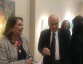سفراء وسياسيون فى افتتاح معرض الفنانة نازلى مدكور بالزمالك.. صور