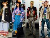 شعر ملون وملابس غريبة بعروض الشارع بأسبوع الموضة فى طوكيو