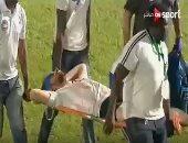 10 غرز فى وجه محمود علاء بعد إصابته أمام نيجيريا