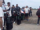 وصول بعثة منتخب مصر من نيجيريا إلى مطار القاهرة