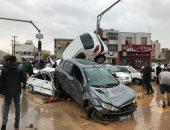 حسن روحانى يتفقد الدمار الناجم عن الفيضانات شمال إيران
