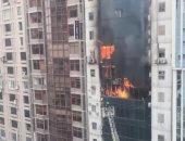 مصرع طفلين بحريق شقة بالقناطر الخيرية