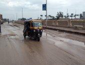 صور.. هطول أمطار بكفر الشيخ والمحافظ يعلن حالة الطوارئ