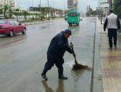 صور.. قبل ساعات من مباراة القمة.. موجه من الطقس السئ تضرب الإسكندرية