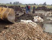 صور.. تكثيف حملات إزالة التعديات على الأراضى الزراعية وأملاك الدولة بالبحيرة
