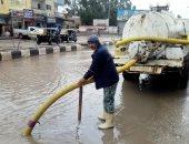 صور .. هطول أمطار غزيرة بكفر الشيخ والمحافظ يعلن حالة الطوارئ