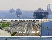 """إنفوجراف.. المنطقة الاقتصادية لقناة السويس.. """"حاضر مشرق ومستقبل واعد"""".. مساحتها تعادل سنغافورة تقريبا.. تغزو التجارة العالمية بـ 6 موانئ و 4 مناطق صناعية.. وبـ""""صفر"""" جمارك تصل لـ 46 دولة عربية وأفريقية"""