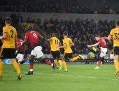 """ولفرهامبتون ضد مانشستر يونايتد.. التعادل 1-1 يحسم الشوط الأول """"فيديو"""""""