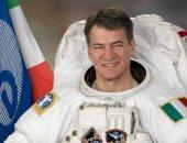 رائد الفضاء الإيطالى باولو نيسبولى فى صالون أكاديمية البحث العلمى 10 إبريل