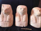 رئيس مدينة قويسنا يرافق البعثة الأثرية بعد الكشف الأثرى الجديد بالمدينة