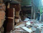 مصرع شخص وإصابة 6 فى انهيار جزئى لعقار بالزاوية الحمراء نتيجة انفجار ماسورة غاز