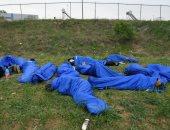 إصابة 29 مهاجرا فى حريق بمخيم فى البوسنة