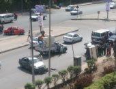 قارئ يشارك بصور حادث مرور بطريق النصر أمام المركز الطبى للمقاولين العرب