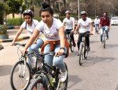 صور.. سفارة الهند تحتفل بـ150 عام على ميلاد غاندى بماراثون دراجات