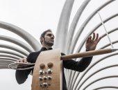 أدهم زيدان والموسيقى الإسبانى خابيير دييث إينا فى معهد ثربانتس بالقاهرة