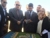 """صور .. محافظ الفيوم ولجنة مجلس الوزراء يتفقدان مشروع تطوير بحيرة قارون """"الحزام الآمن"""""""